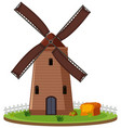 isolated windmill farmland on white background vector image
