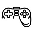 joystick icon outline style vector image vector image