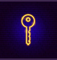 key neon sign vector image