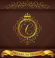 Letter C Luxury Logo template flourishes vector image vector image