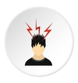 Male avatar and lightning icon flat style vector image vector image