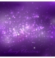 Merry Christmas shiny purple holiday background vector image