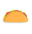 mexican taco icon vector image