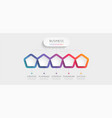modern 3d infographic template with 5 steps vector image vector image