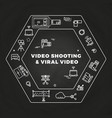 movie film-making line art icons concept vector image vector image