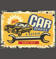 old sports coupe car vintage sign vector image