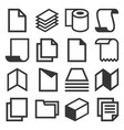 paper icons set on white background vector image