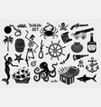 pirate logos collection for t-shirt and denim vector image vector image