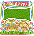 poster for easter holiday vector image vector image