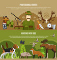 professional hunter banners set vector image vector image