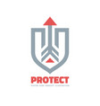 protect - business logo template concept vector image