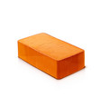 red ceramic brick material vector image vector image