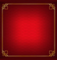 red shell overlap chinese abstract background vector image vector image