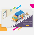 relocation service web banner design vector image