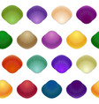 seamless colorful seashell template background vector image vector image