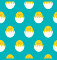 seamless pattern with cute yellow easter chickens vector image vector image