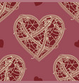 seamless patterns heart vector image vector image