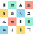 set of simple architecture vector image