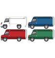 set of truck with different colour vector image