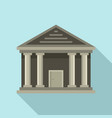 stone courthouse icon flat style vector image vector image