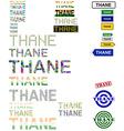 Thane text design set vector image vector image