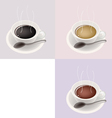 Three Coffee Cups vector image vector image