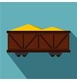Train cargo wagon icon flat style vector image vector image