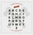 vintage retro handcrafted font vector image