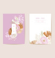 wedding tropical floral invitation dry tropic vector image