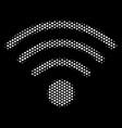 white halftone wi-fi source icon vector image