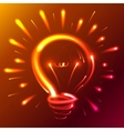 Bright red neon lights abstract bulb vector image