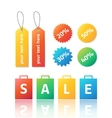 set of colorful stickers and labels for vector image