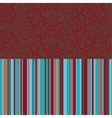 Retro seamless pattern with color stripes vector image