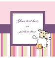 lovely pink baby card or frame vector image