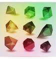 Abstract modern polygonal bubble label website vector image vector image