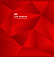 abstract red geometric polygonal background for vector image vector image