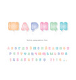 balloons cyrillic font funny colorful abc letters vector image vector image