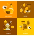 Bee honey icons flat vector image