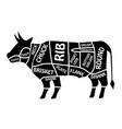 beef chart poster butcher diagram for groceries vector image vector image