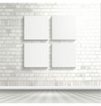 blank canvases on brick wall 1503 vector image vector image