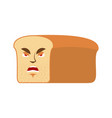 bread angry emoji piece of bread aggressive vector image