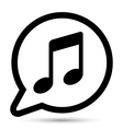bubble with music icon vector image