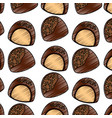 chocolate candy chips dessert seamless pattern vector image vector image