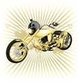 Chopper with a skull on the spotlight vector image vector image