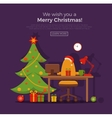Christmas room interior vector image vector image