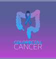 colorectal cancer icon design vector image vector image