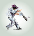 Colored hand drawing baseball vector image