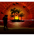 couples on beach vector image