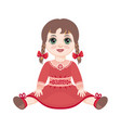 doll childrens toy vector image vector image