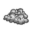 dotwork cloud weather vector image vector image
